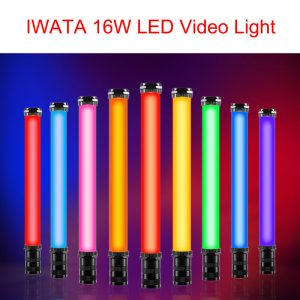 IWATA 16W Master R E Handheld RGB Colorful Full Color Lce Stick LED Video Light OLED Display with 2200mAh Built-in Battery