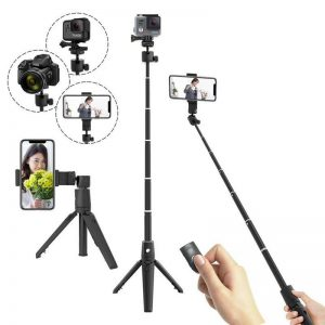 K20 Selfie Stick Multifunctional bluetooth Remote Control Light Weight Tripod 360 Degree Rotating Expandable Phone Holder