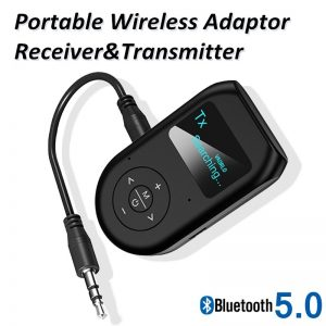 [LCD Display] BT5.0 Audio Receiver Transmitter EDR AUX 3.5MM 3.5 Jack USB Music Stereo Wireless Adapters Dongle For Car TV PC Speaker