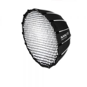 NANLITE EC-FZ60 Portable 60CM Quickly Fast Installation Deep Parabolic Softbox with Grid for Forza 60