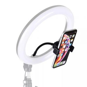 PULUZ PU501B Universal Flexible Clip Mount Holder Hose Clip Clamp with 1/4 Screw for Smartphone Mobile Phone Ring Light Tripod for Selfie Video Photography