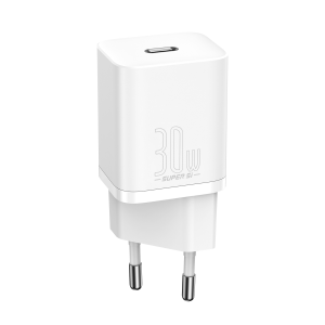 [Super Si] Baseus Super Si 30W USB PD Charger USB-C PD3.0 QC3.0 Fast Charging Wall Charger Adapter EU Plug for iPhone 12 Pro Max for Samsung Galaxy Note S20 ultra Huawei Mate40 OnePlus 8 Pro