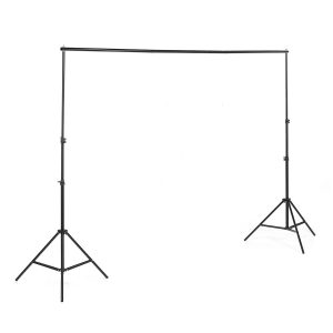XIANHUAJIE 0.7-2m Aluminum Alloy Photography Background Stand Backdrop Frame Support System Kit for Photography Studio Video Live Broadcast