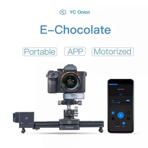 YC Onion Chocolate Milk Camera Slider Motorized APP Control Retractable Portable for DSLR Camera Camcorder Smart Phone for GoPro