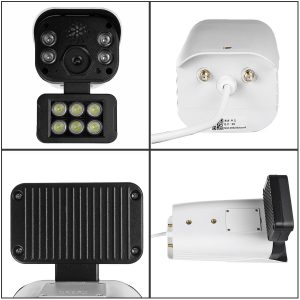 10 LEDS 300W WiFi Wireless Security IP Camera Monitor Full Color Night Vision