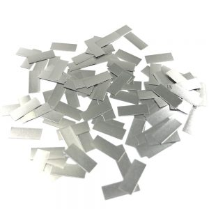 100Pcs Pure Nickel 99.96% Low Resistance Battery Strip Tabs Mat for Welding 0.1x4x10mm