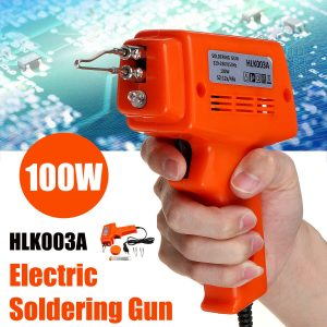 100W 220-230V Electric Soldering lron Kit 3 Tips Case Workplace