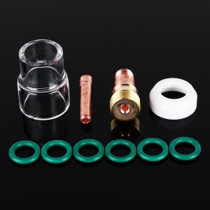10Pcs TIG Welding Torch Stubby Gas Lens #12 Pyrex Cup Kit for WP-17/18/26 2/32inch