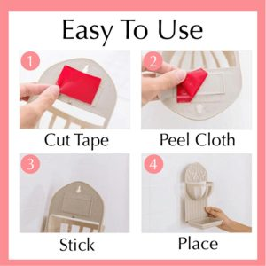 1/2/3/5M Double Sided Tape Heavy Duty Adhesive Traceless Clear Washable Remove