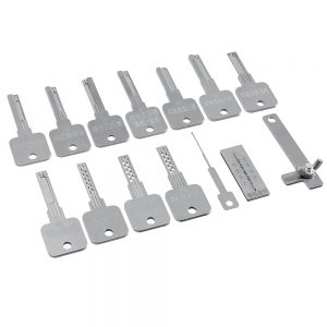 15PCS Stainless Steel Soft Hard to Pry Open the Key Key lock Pi Various Key Embryos