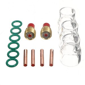 15Pcs TIG Welding Torch Gas Lens #12 Cup Kit for WP-9/20/25 Series 1/8inch