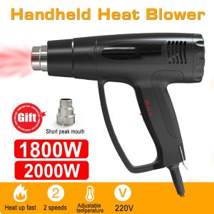 1800W 2000W 220V Fast Heating Heat Hot Air Rework Station Powered 600℃ Dual Temperature with Nozzles
