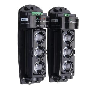 250M Alarm Triple Beam Photoelectric Infrared LED Detector Home Garden Security System Transmiter + Receiver