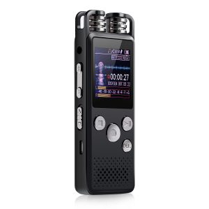 4GB/8GB/16GB/32GB Long Battery With microphone Recording Audio Voice Activated Digital Voice Recorder for Meeting