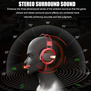 A16 3.5mm Gaming Headset Bass Noise Cancelling Wired Microphone LED Game Headphone