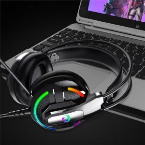 A18 E-sport Headphone 3.5mm Earphone Stereo HiFi Gaming Headset With Mic for PC Mobile Phone