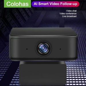AI Smart Video 1080P Full HD Web Camera Auto Focus Follow-up USB Webcam Aoto Tracking Webcam with Microphone for PC Computer Conference