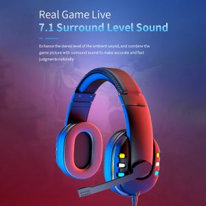 AK-47 Gaming Headphones 7.1 Surround Sound Stereo 40mm Dynamic Drivers Earphone Luminous Adjustable 3.5mm Head-Mounted Wired Headset with Mic
