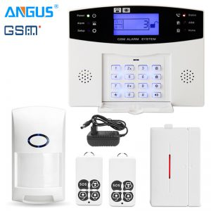 Angus 433Mhz GRPS GSM PSTN Smart Home Security Intruder Burglar Alarm System Wire & Wireless Intercom with 110db Siren for House