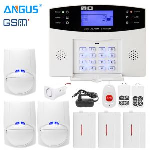 Angus 433Mhz GRPS GSM PSTN Smart Home Security Intruder Burglar Alarm System Wire & Wireless Intercom with 110db Siren for House Type B