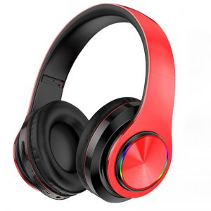 B39 Luminous bluetooth 5.0 Headset Head-mounted Wireless Headphones Heavy Bass Surround Stereo Colorful LED Lights Outdoor Sport