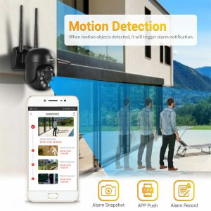 ESCAM WNK614 8CH 3MP Wireless Dome Camera CCTV Security System NVR Kit Two Way Audio Dual Light Motion Sensor Detection IP Camera