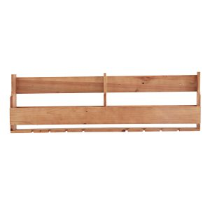 Large Rustic Wall Mounted Reclaimed Wood Rack and Glass Holder