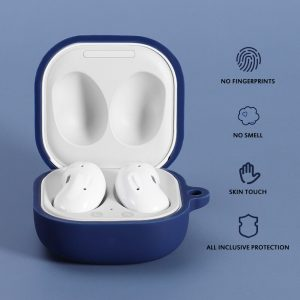 [Multi-Color]  for Samsung Galaxy Buds Live Storage Case Pure TPU Shockproof Dust-Proof Earphone Headset Accessories with Hook