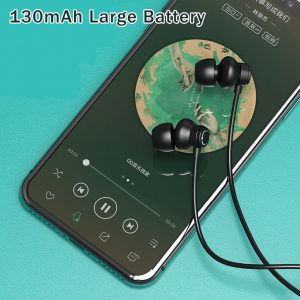 [bluetooth 5.0] F1 Sport Magnetic Hifi Stereo Sound Wireless Hanging Ear Neckband Earphone With EMS Noise Cancelling Mic