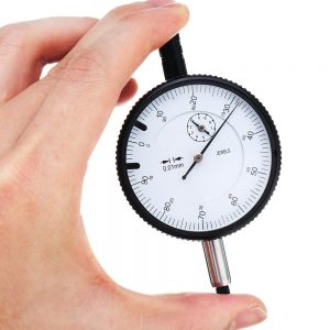 0-10mm Precision Dial Indicator with Drill Bit Dial Gauge 0.01MM Resolution 58mm Table Diameter