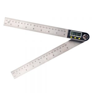 0-500mm Digital LCD Display Angle Ruler Stainless Steel Electronic Goniometer Protractor Measuring Tool with Hold and Zeroing Function