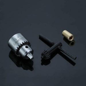 0.3-4mm Drill Chuck with Wrench and 3.1mm Bushing Connecting Shaft