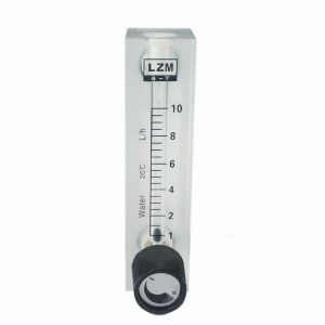 1-10L/h Glass Rotor Flow Meter Small Gas Air Flow meter Acrylic Length 106MM