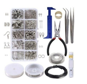 10 Grid Accessories Combination Set Open Ring Close Ring Lobster Clasp Ring Feed Ring Hand Tool Pliers
