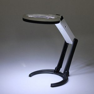 10 LED Lighting Desk Handheld Lamp With 2.5X 8X Magnifier