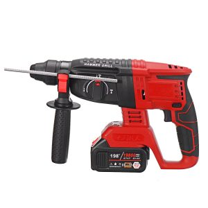 100-240V 21V Brushless Electric Hammer Heavy Duty Electric Rotary Hammer Drill No-load Speed Tool