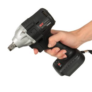 100-240V 21V Cordless Brushless Electric Wrench 600N.m Impact Wrench 20000mAh Recharge