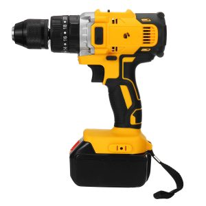 100-240V AC 36V 3 In 1 Cordless 150Nm Torque Impact Drill Screwdriver Wrench 2 Speeds Adjustment LED Lighting with Large Capacity Battery
