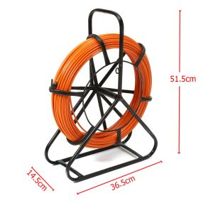 100M 4.5mm Fiber Glass Rodder Tape Cable Running Rod Wire Puller Push Pull Rod