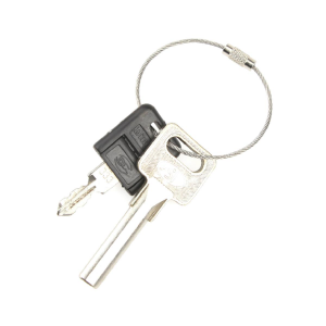 100Pcs Stainless Steel Wires Keychains Carabiner Key Rings Cables Outdoor Hiking