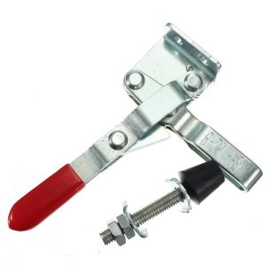 102B Red Plastic Covered Handle Vertical Hand Tool Toggle Clamp 100kg