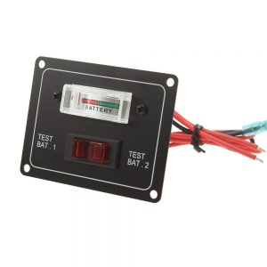10A DC 12V Dual Battery Voltage Test Panel with Rocker Switch for RV Boat Marine Car Accessory Battery Tester