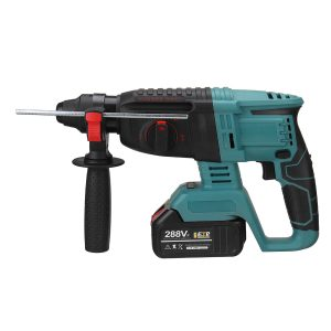 110/220V Brushless Electric Rotary Hammer Impact Drill Tool With 288Vf 19800mAh Battery