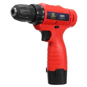 110V-240V Cordless Electric Screwdriver 1 Battery 1 Charger Drilling Punching Power Tools