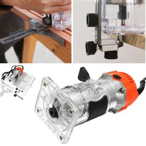 110V/220V 1200W 6.35mm Wood Laminate Palm Router Electric Hand Trimmer Edge Joiners Woodworking Tool