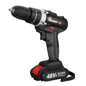 110V/220V 3 in 1 Cordless Impact Drill Hammer Screwdriver with 2pcs 48V Lithium Batteries