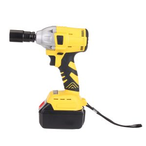 1/2'' Cordless Brushless Impact Wrench Brushless Motor Power Driver Electric Wrench with 2 Battery