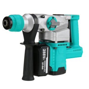1280W Cordless Rechargable Brushless Electric Hammer For Makita Electric Pick Hammer Drill With 1 Battery EU Plug