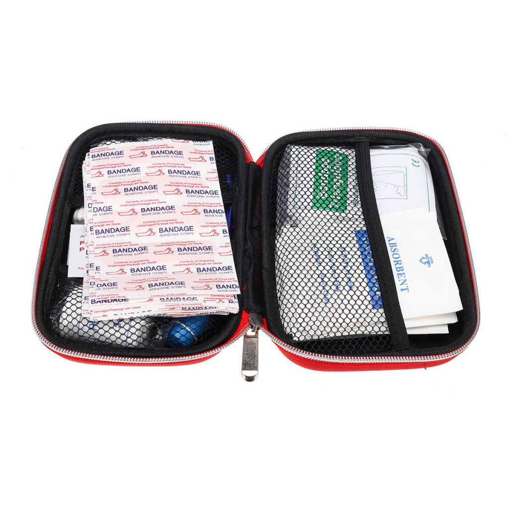 145Pcs Upgraded Outdoor Indoor Emergency Survival First Aid Kit Survival Gear for Home Office Car Boat Camping Hiking Travel 1