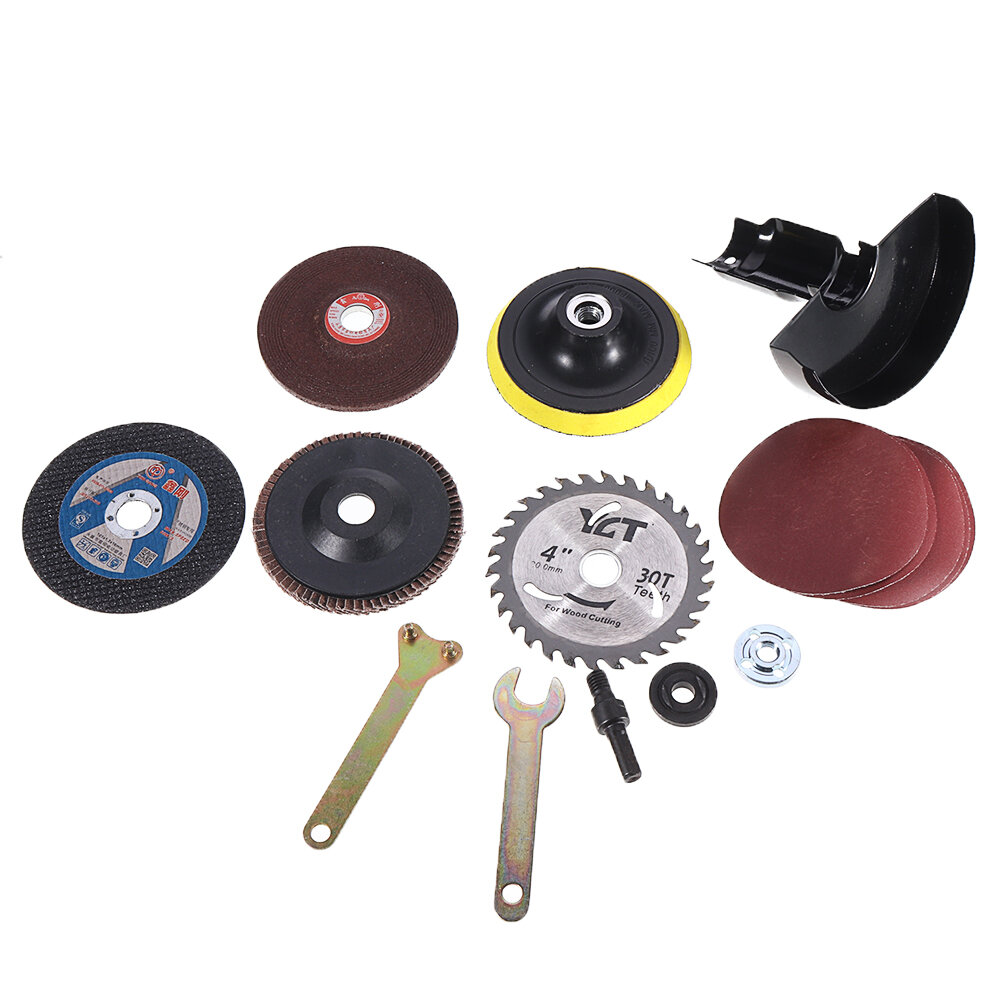 16pcs Angle Grinder Accessories with Protective Cover for 100 Angle Grinder